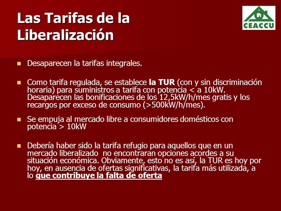 Las Tarifas de la Liberalización