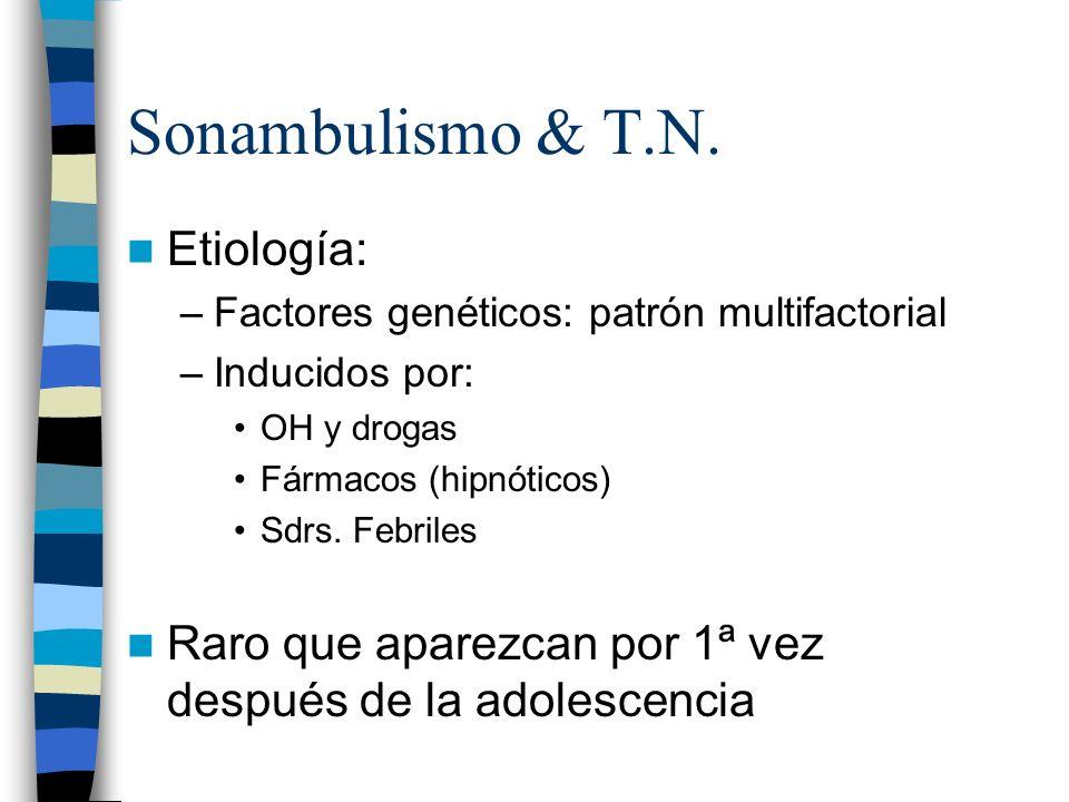 Sonambulismo & T.N. Etiología: