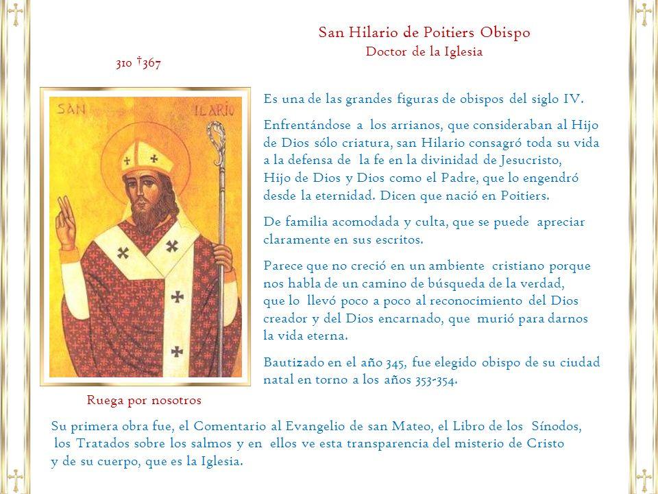 San Hilario de Poitiers Obispo Doctor de la Iglesia