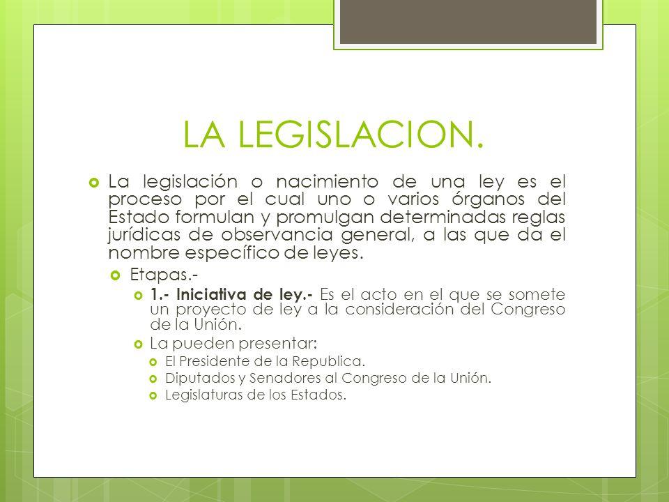 LA LEGISLACION.