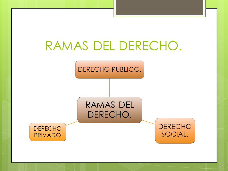 RAMAS DEL DERECHO. RAMAS DEL DERECHO. DERECHO PUBLICO. DERECHO SOCIAL.