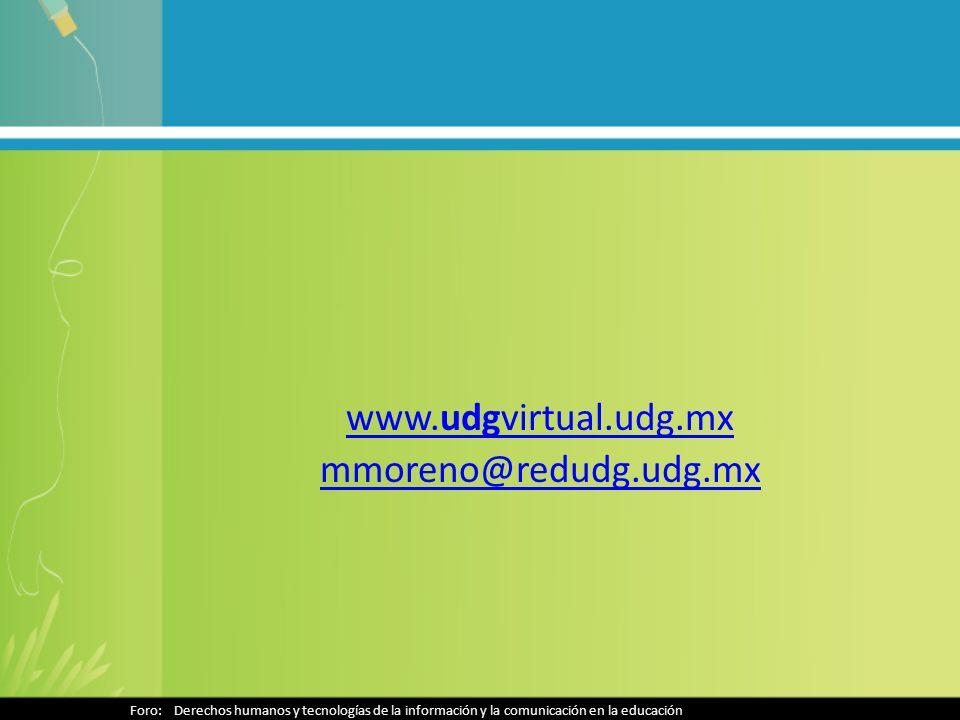 www.udgvirtual.udg.mx mmoreno@redudg.udg.mx