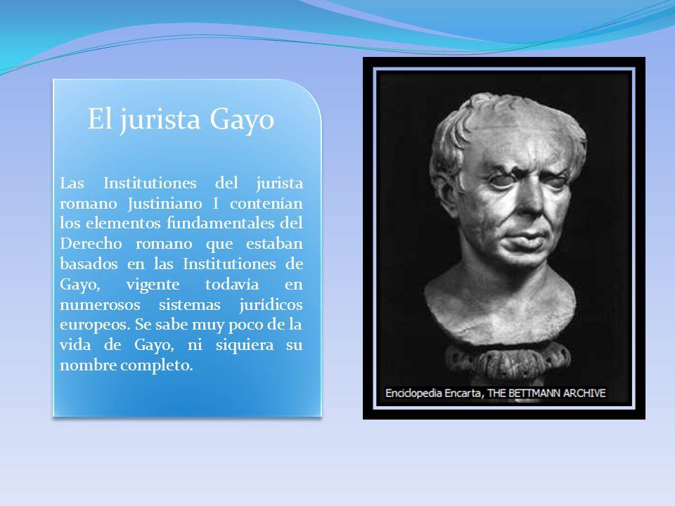 El jurista Gayo