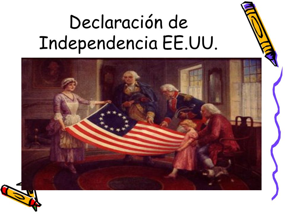 Declaración de Independencia EE.UU.