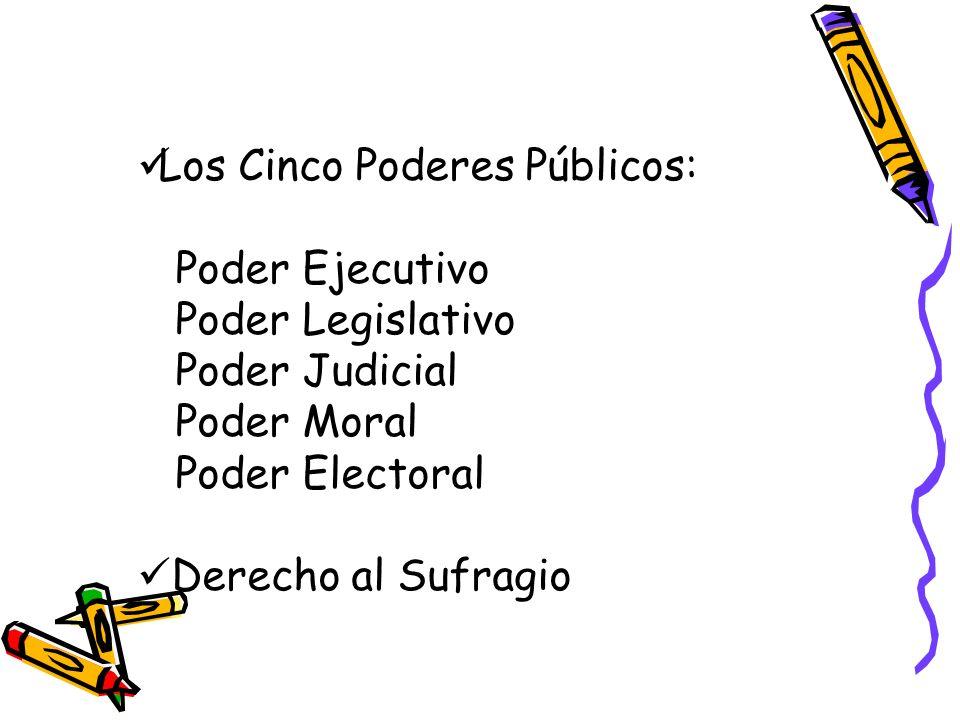 Los Cinco Poderes Públicos: