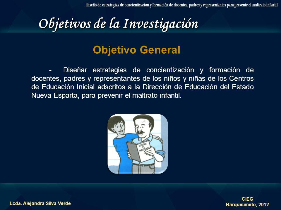Objetivos de la Investigación Lcda. Alejandra Silva Verde