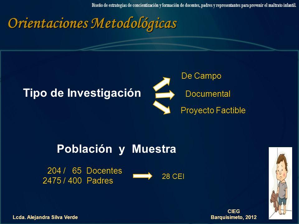 Orientaciones Metodológicas Lcda. Alejandra Silva Verde