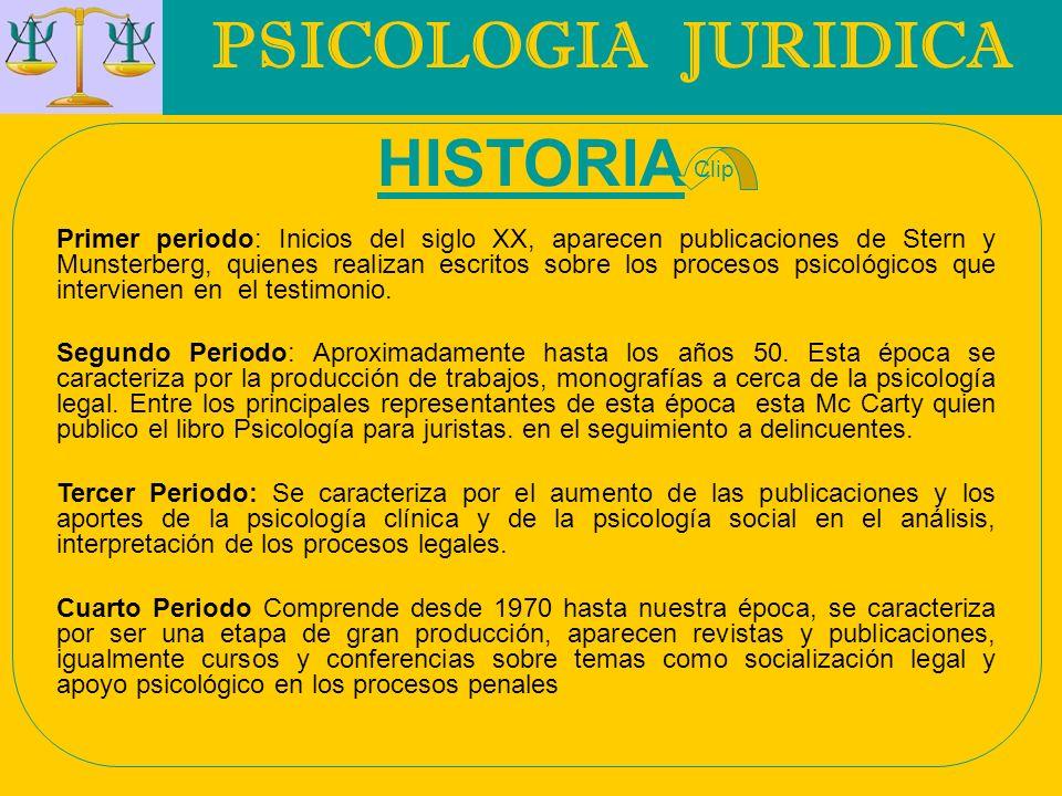 PSICOLOGIA JURIDICA HISTORIA