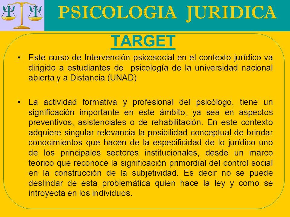 PSICOLOGIA JURIDICA TARGET