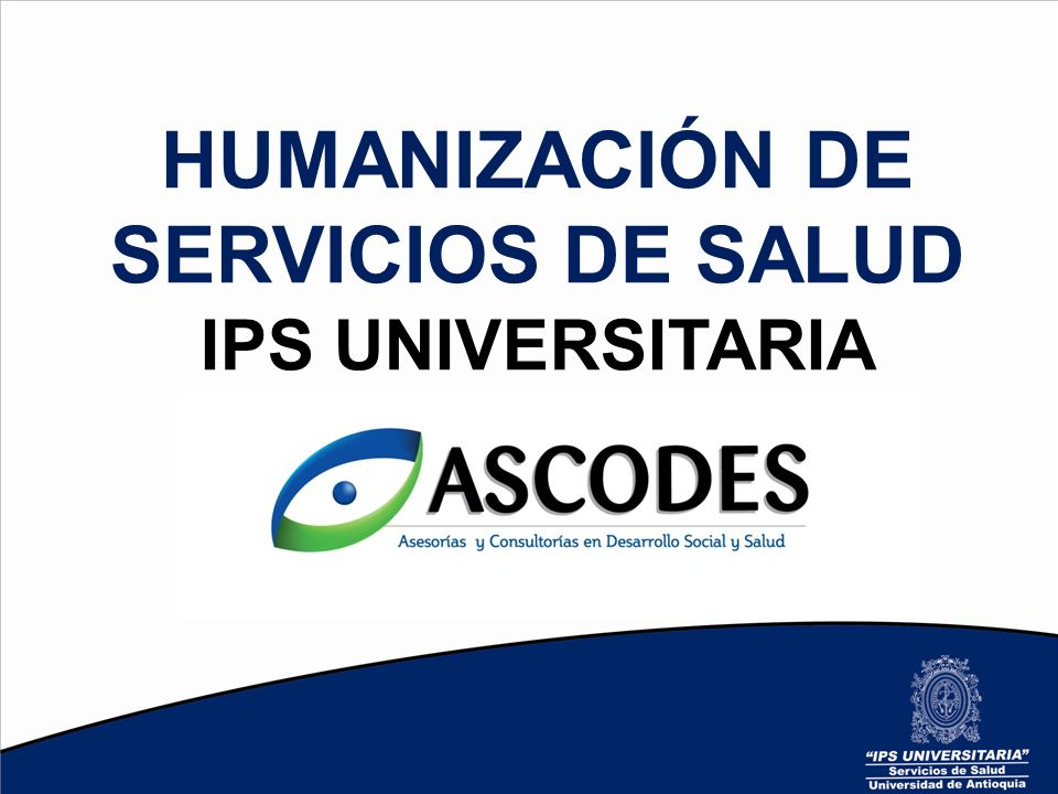 HUMANIZACIÓN DE SERVICIOS DE SALUD