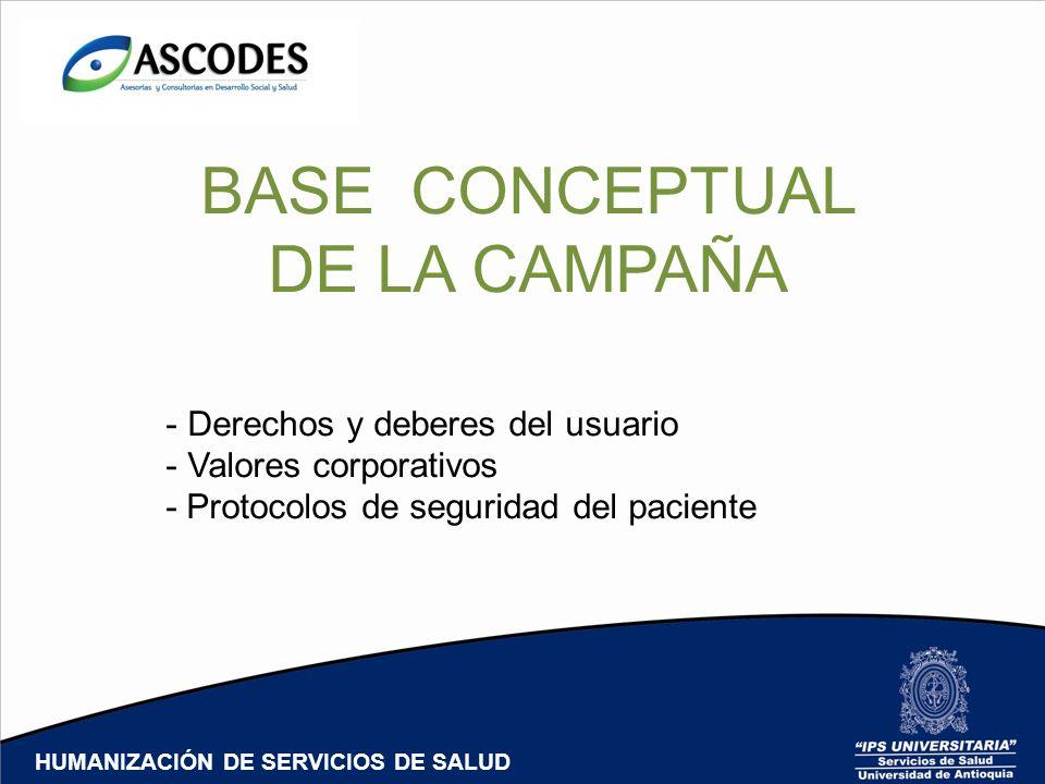 BASE CONCEPTUAL DE LA CAMPAÑA