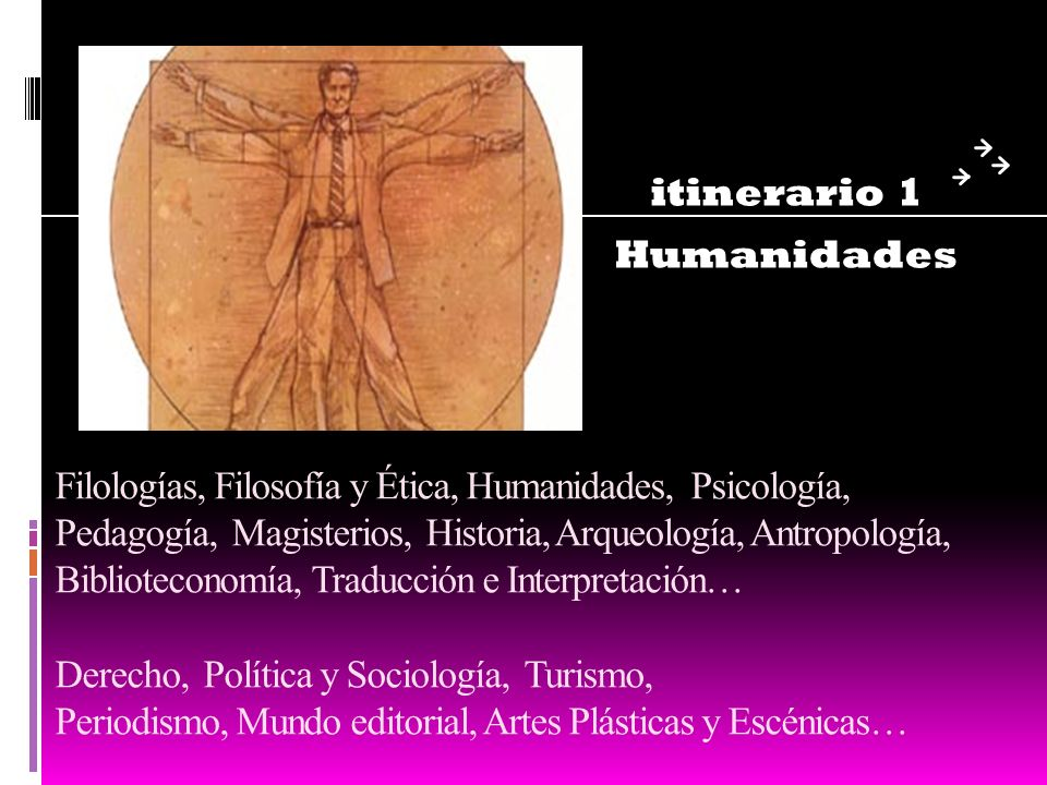 itinerario 1 Humanidades