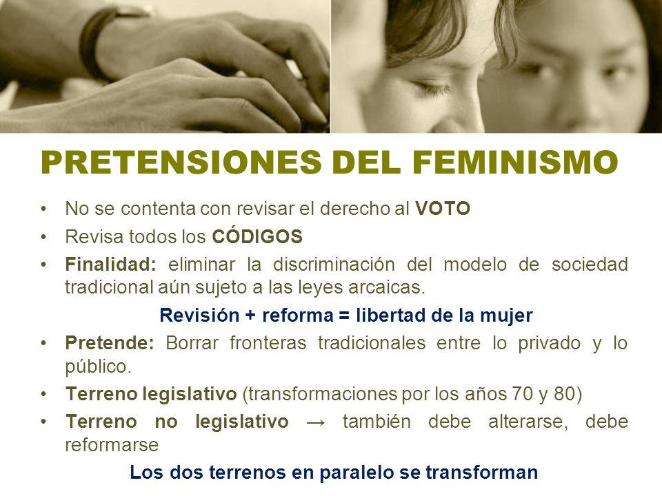 PRETENSIONES DEL FEMINISMO