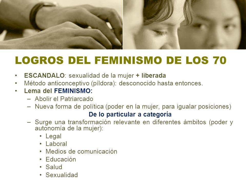 LOGROS DEL FEMINISMO DE LOS 70