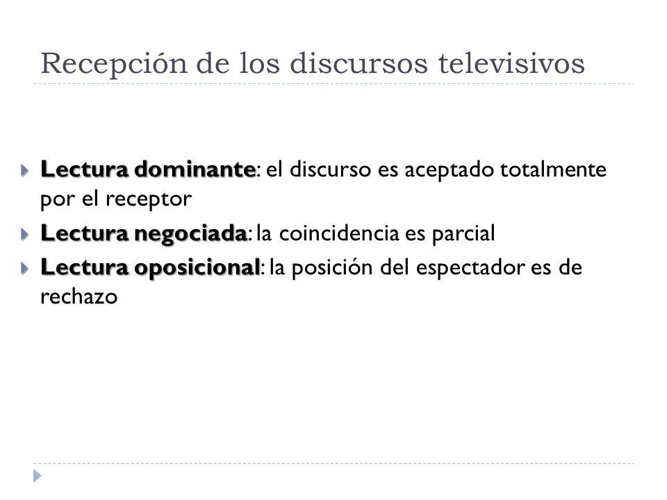 Recepción de los discursos televisivos
