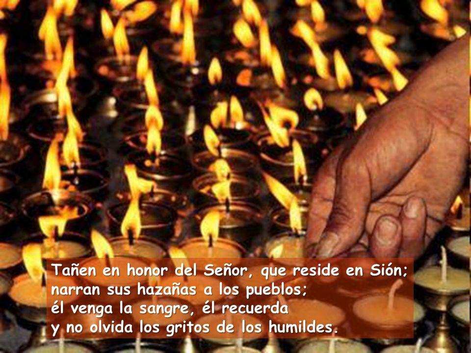 Tañen en honor del Señor, que reside en Sión;