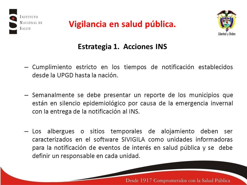 Vigilancia en salud pública.