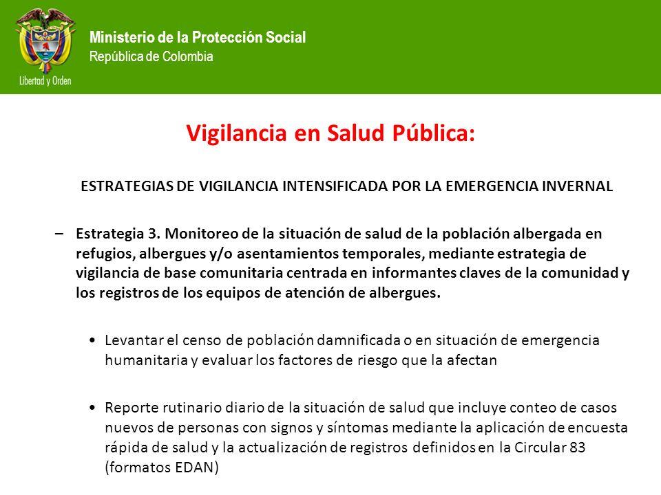 Vigilancia en Salud Pública: