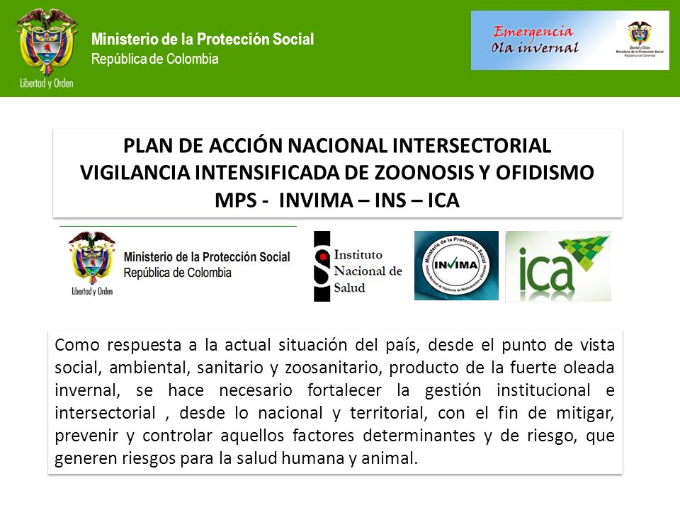 PLAN DE ACCIÓN NACIONAL INTERSECTORIAL
