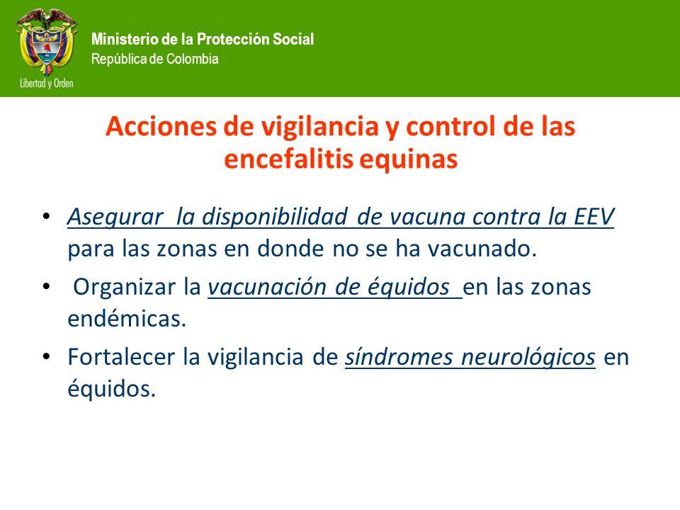 Acciones de vigilancia y control de las encefalitis equinas