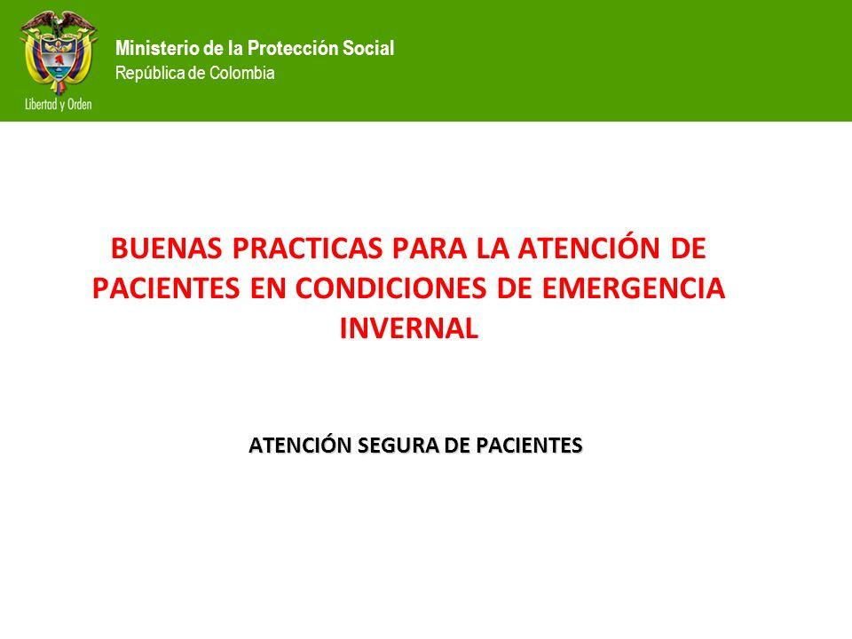 ATENCIÓN SEGURA DE PACIENTES