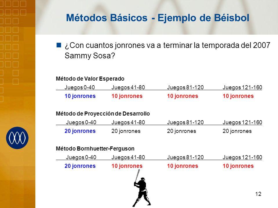 Métodos Básicos - Ejemplo de Béisbol