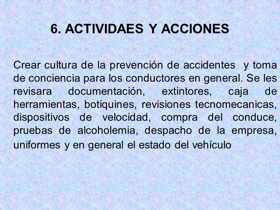 6. ACTIVIDAES Y ACCIONES