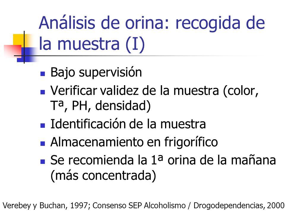 Análisis de orina: recogida de la muestra (I)