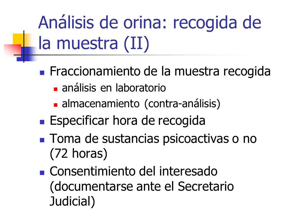 Análisis de orina: recogida de la muestra (II)