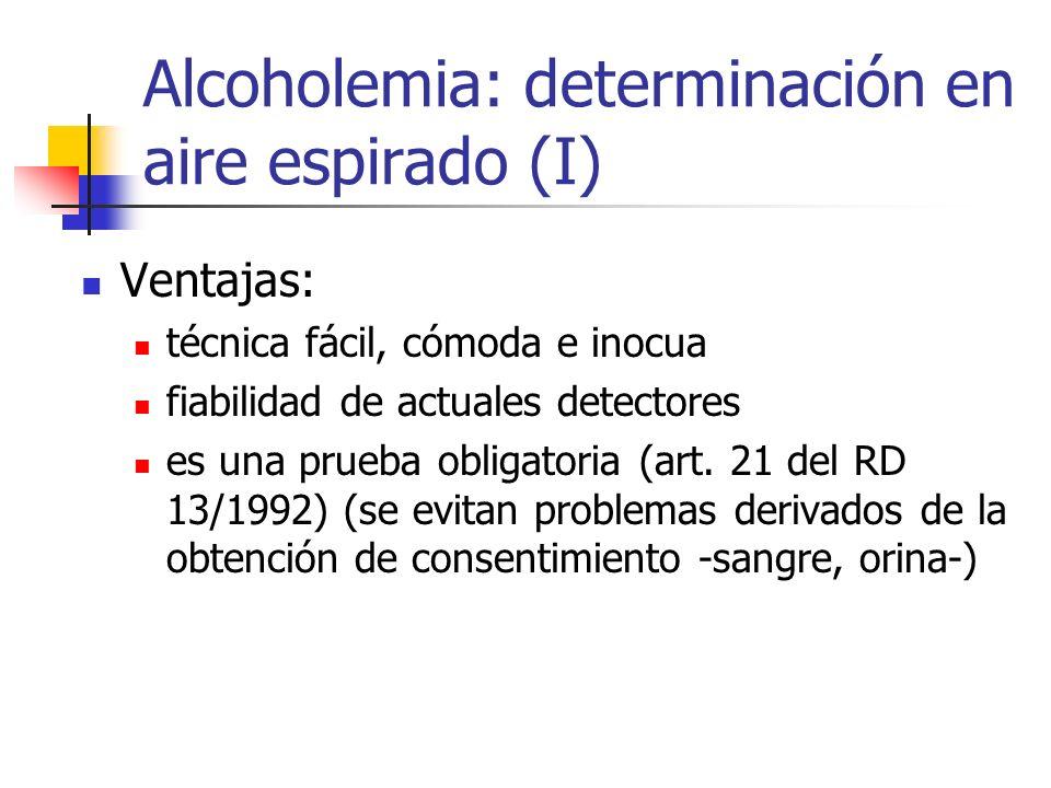 Alcoholemia: determinación en aire espirado (I)