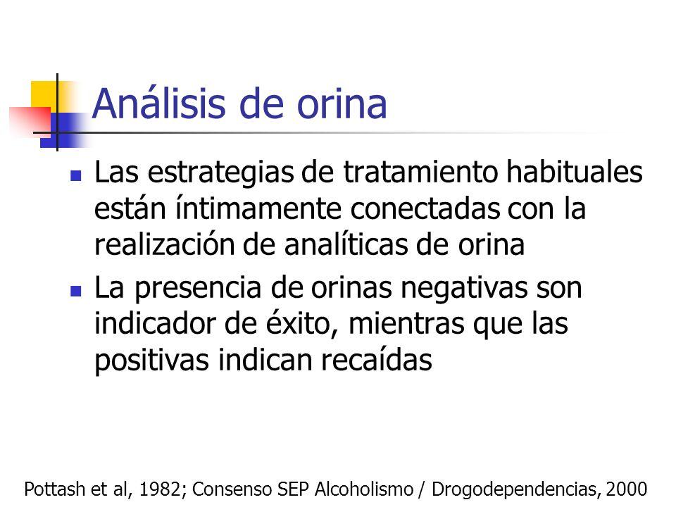Análisis de orinaLas estrategias de tratamiento habituales están íntimamente conectadas con la realización de analíticas de orina.