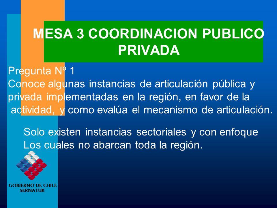 MESA 3 COORDINACION PUBLICO PRIVADA