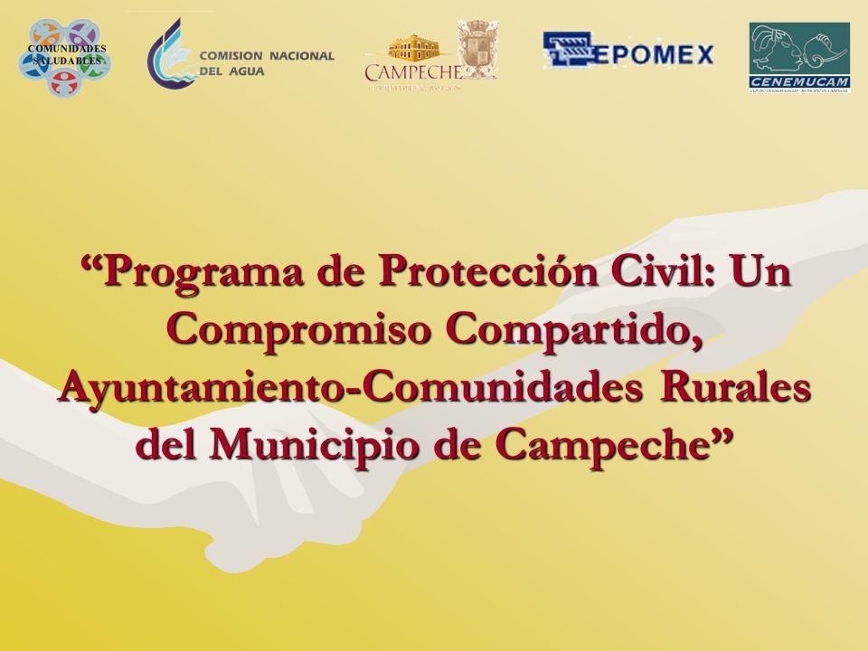 Programa de Protección Civil: Un Compromiso Compartido, Ayuntamiento-Comunidades Rurales del Municipio de Campeche