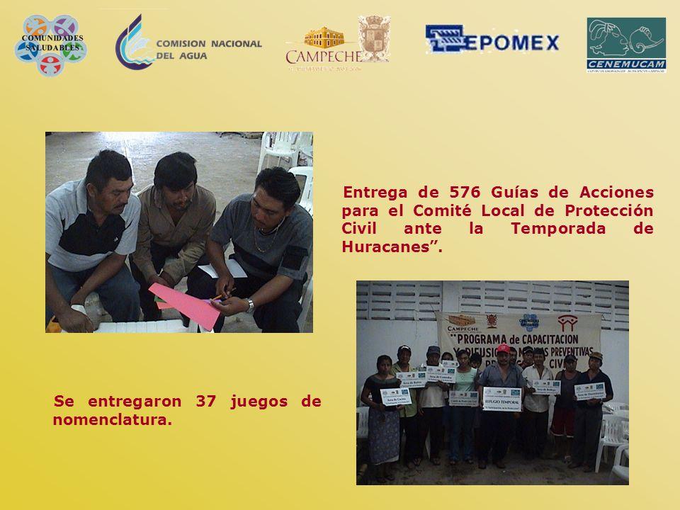 Entrega de 576 Guías de Acciones para el Comité Local de Protección Civil ante la Temporada de Huracanes .