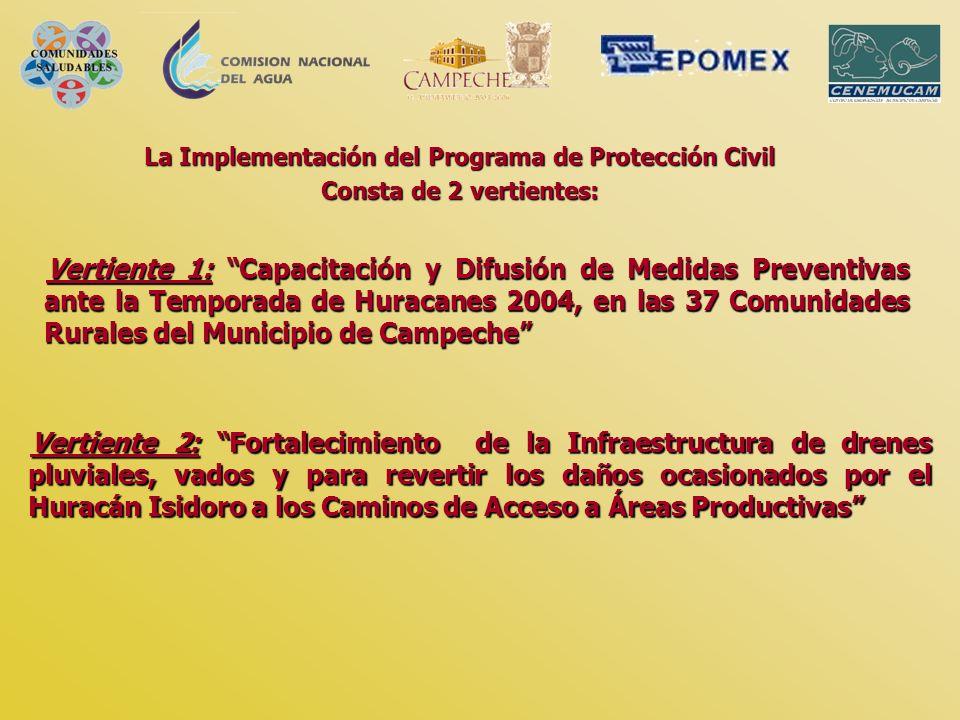 La Implementación del Programa de Protección Civil