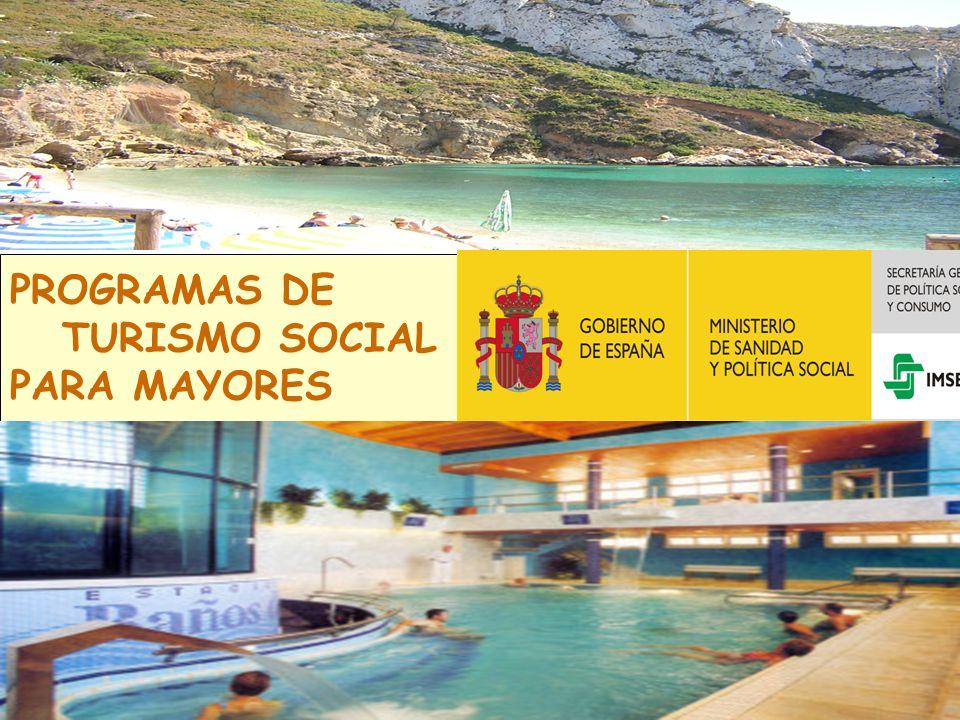 PROGRAMAS DE TURISMO SOCIAL PARA MAYORES