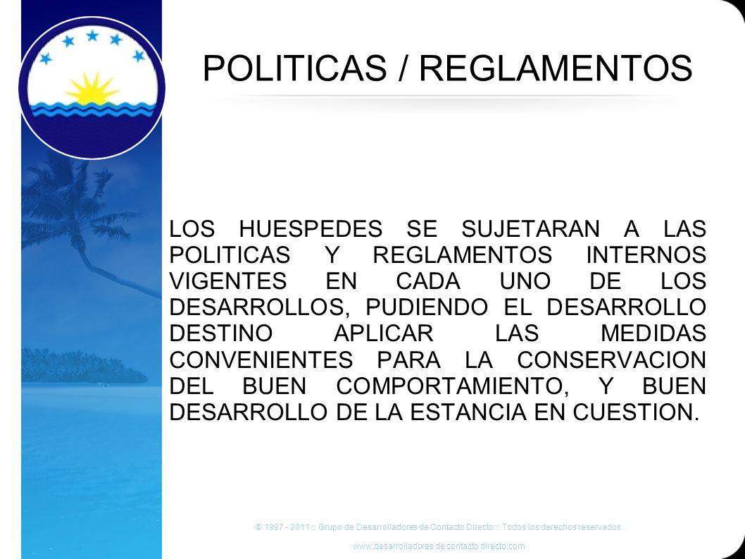POLITICAS / REGLAMENTOS