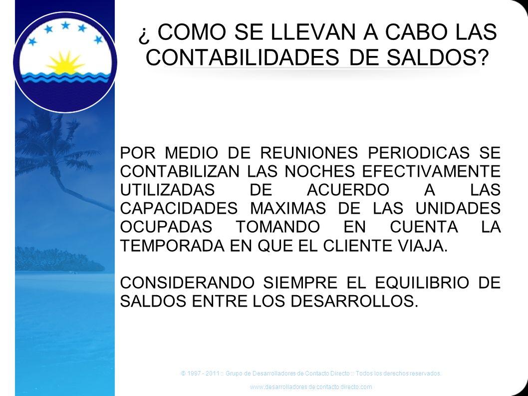 ¿ COMO SE LLEVAN A CABO LAS CONTABILIDADES DE SALDOS