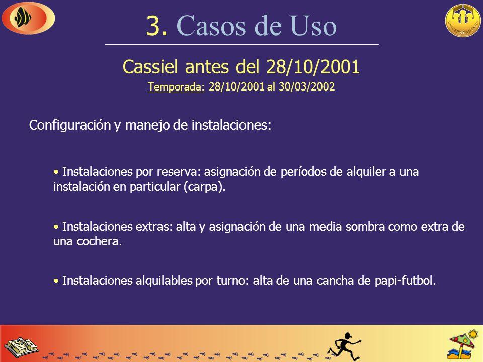 Cassiel antes del 28/10/2001 Temporada: 28/10/2001 al 30/03/2002