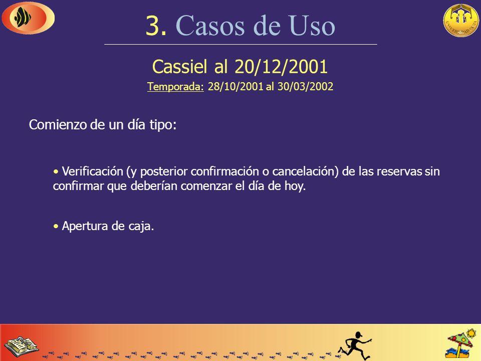 Cassiel al 20/12/2001 Temporada: 28/10/2001 al 30/03/2002