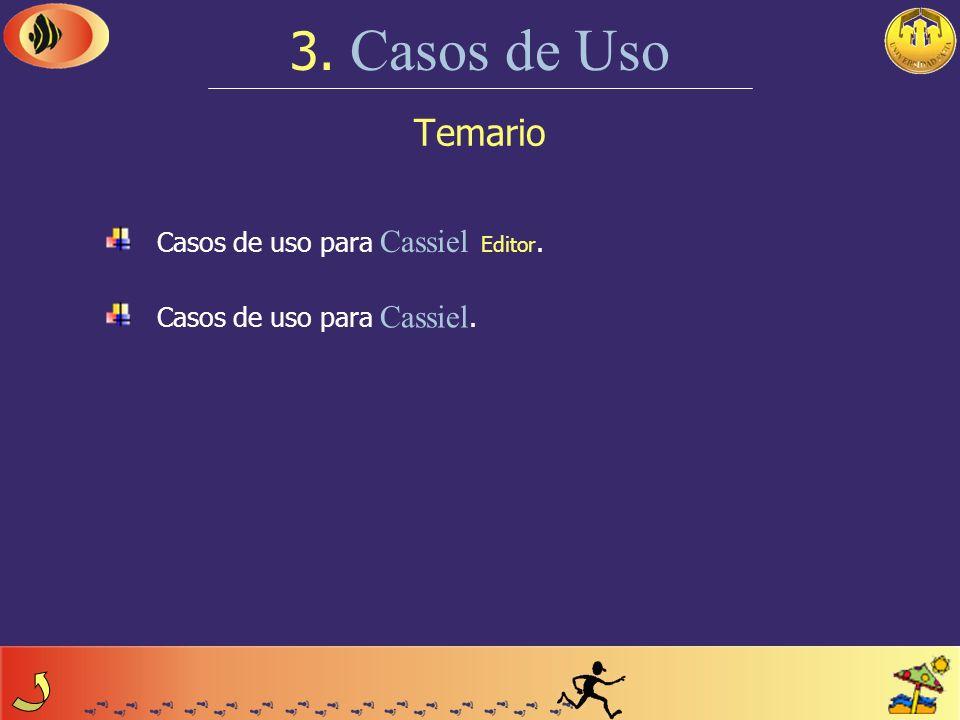 3. Casos de Uso Temario Casos de uso para Cassiel Editor.