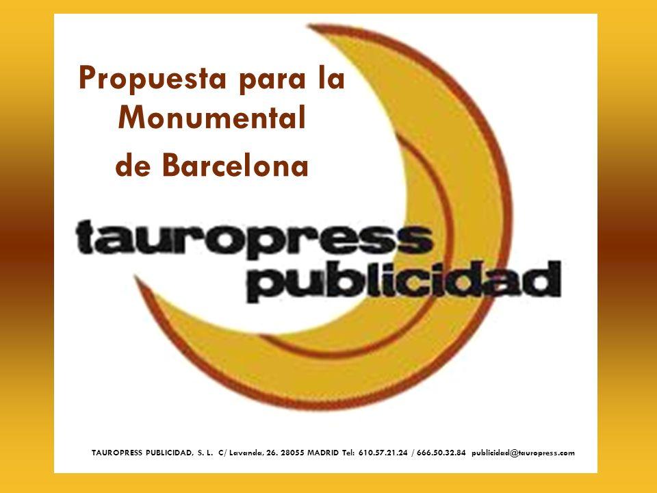 Propuesta para la Monumental de Barcelona
