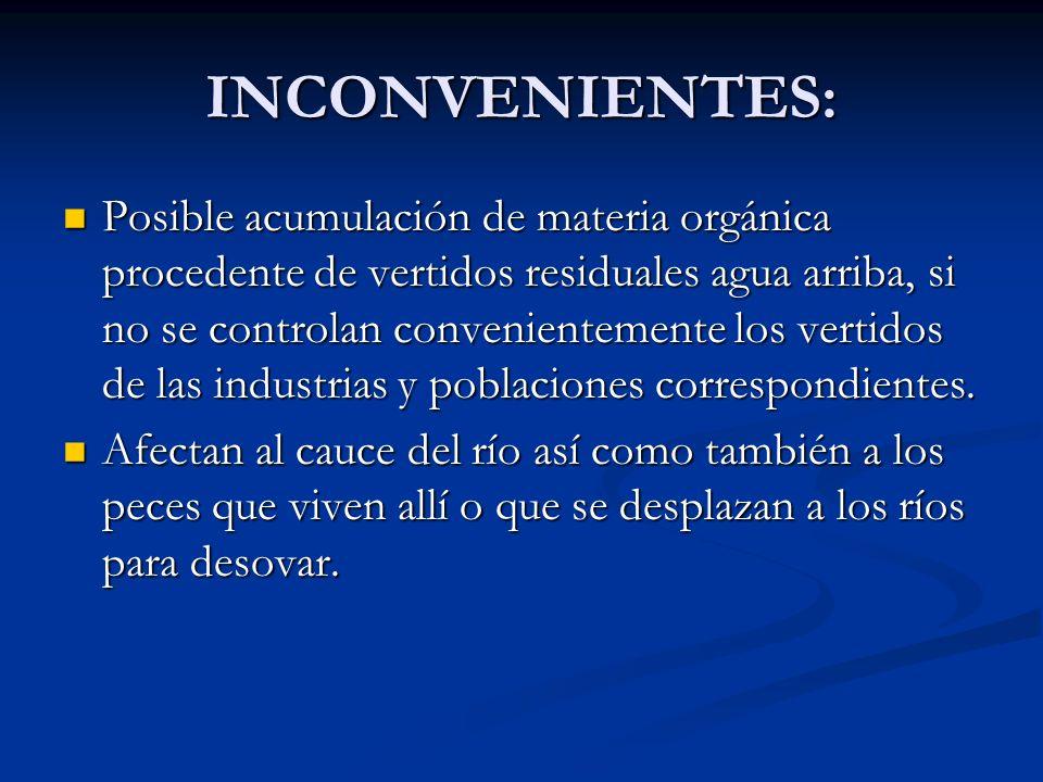 INCONVENIENTES: