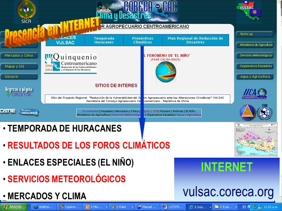 INTERNET vulsac.coreca.org Presencia en INTERNET