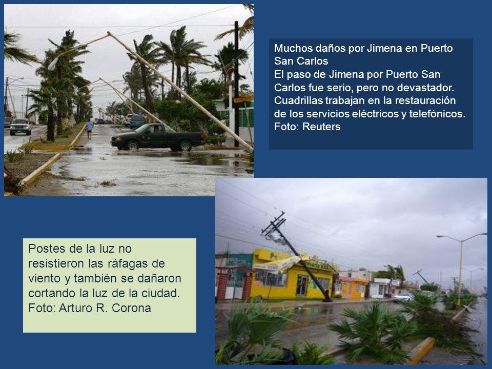 Muchos daños por Jimena en Puerto San Carlos
