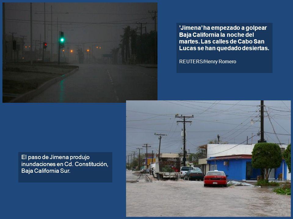 'Jimena' ha empezado a golpear Baja California la noche del martes