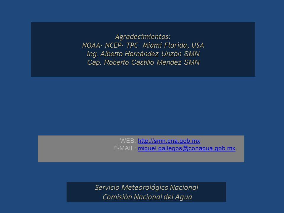 Servicio Meteorológico Nacional Comisión Nacional del Agua