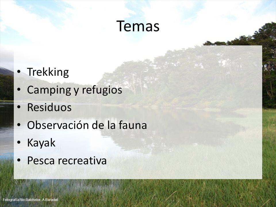 Temas Trekking Camping y refugios Residuos Observación de la fauna