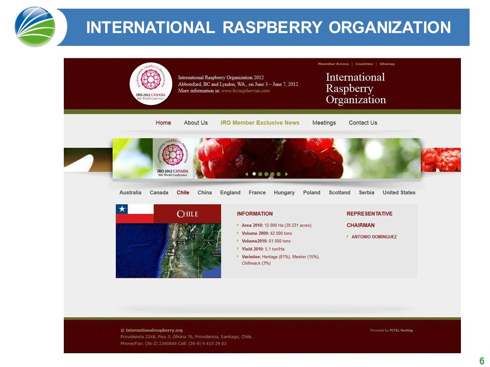 INTERNATIONAL RASPBERRY ORGANIZATION