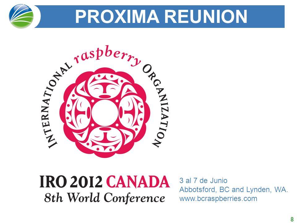 PROXIMA REUNION 3 al 7 de Junio
